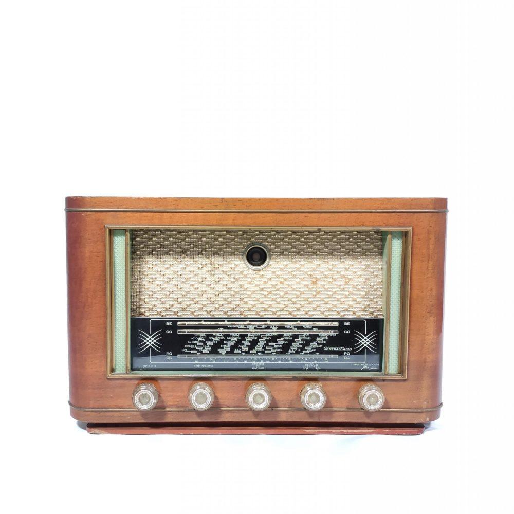 Général-Radio Crystal de 1954 : Poste radio vintage Bluetooth