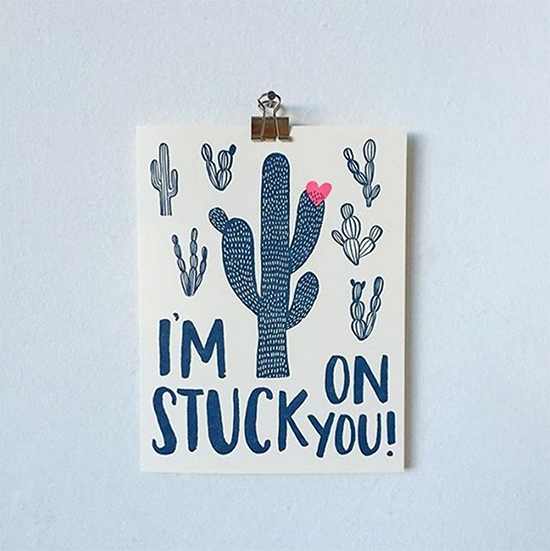Hello! Lucky Cactus Card