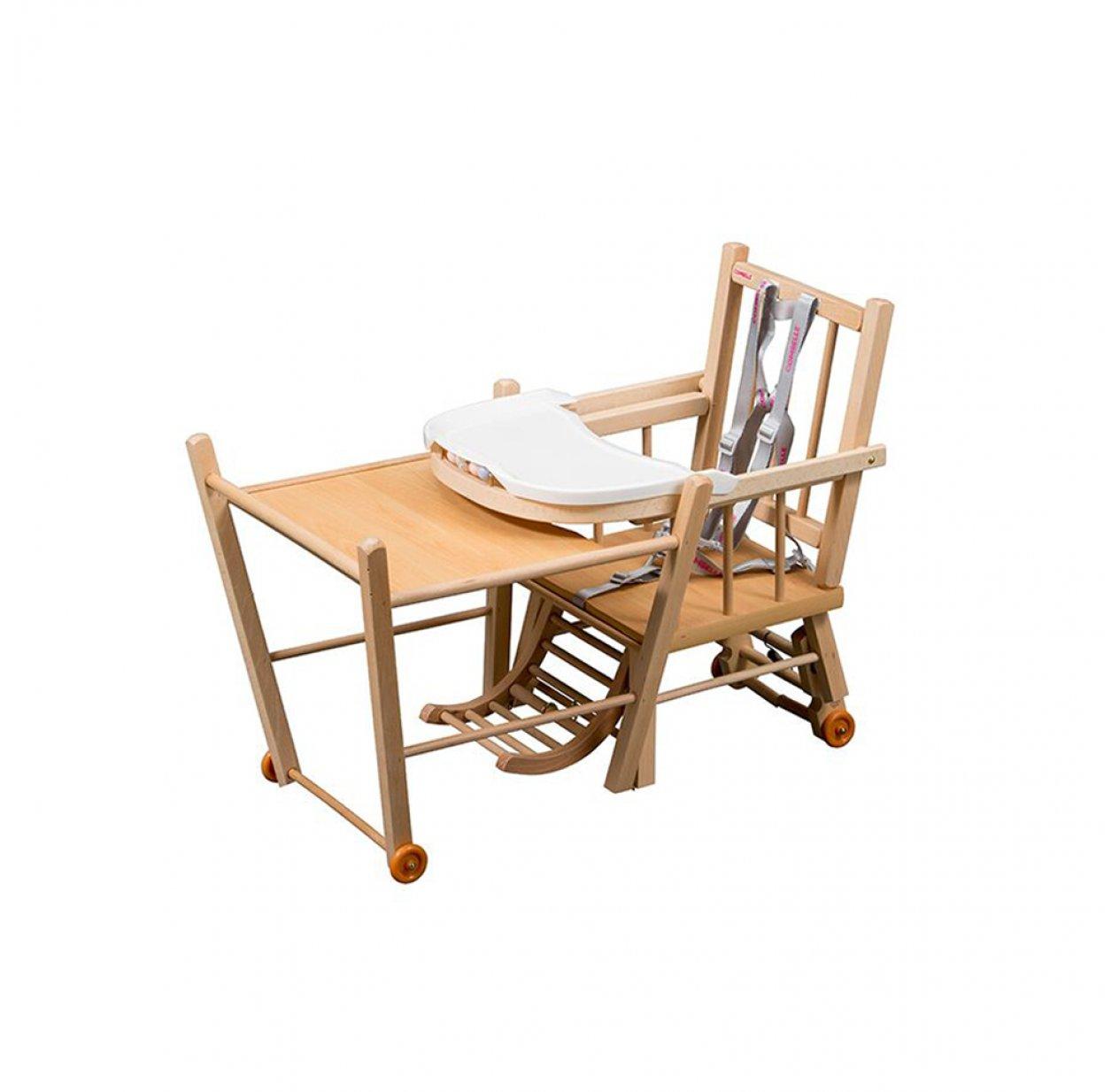 chaise haute transformable marcel vernis naturel