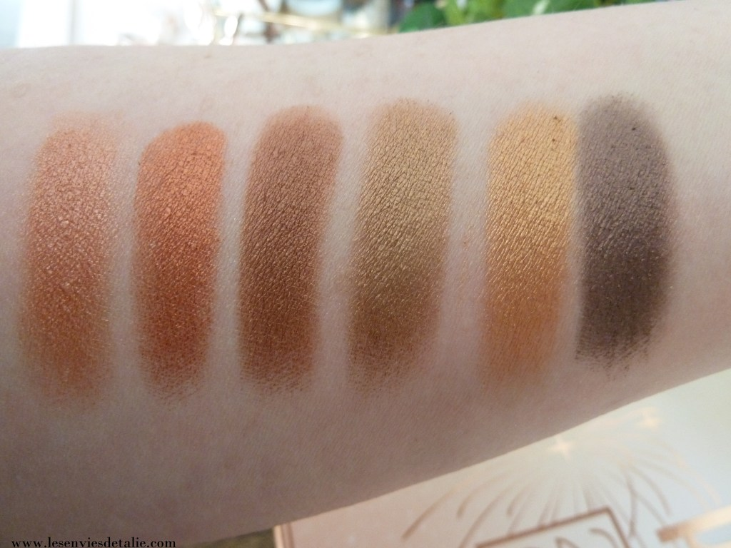 Swatches #2 Eye reflection Shadow palette Pixi Beauty : Reflex light