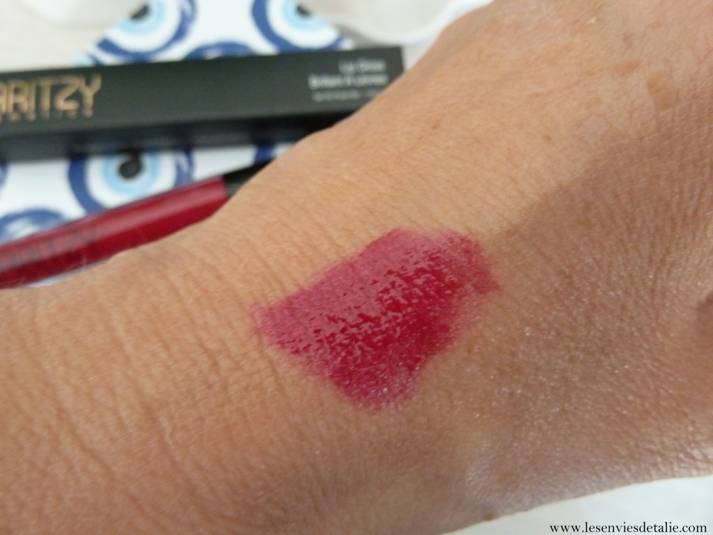 Swatch du Gloss lèvres Laritzy Cosmetics