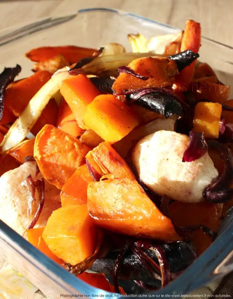 legumes d automne confits au four au miel et epices