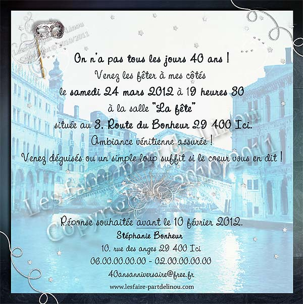 يعرض أرضية المؤشر carte d invitation anniversaire bal masque
