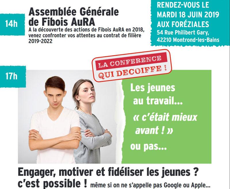 La conférence qui décoiffe pour Fibois Auvergne Rhône-Alpes au centre de séminaires les Foréziales le 18 juin 2019.