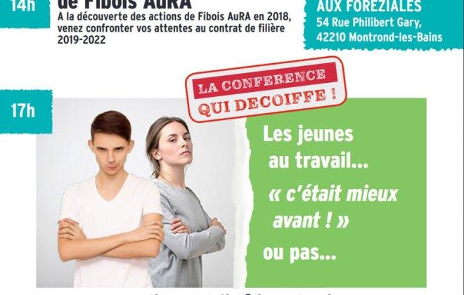 Conférence Fibois Auvergne Rhône-Alpes au centre de séminaires les Foréziales