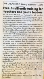 BirdSleuth-Announcement-Herald