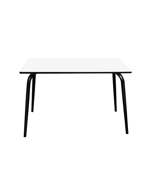 table a manger tables design retro formica vera 120x70 blanc