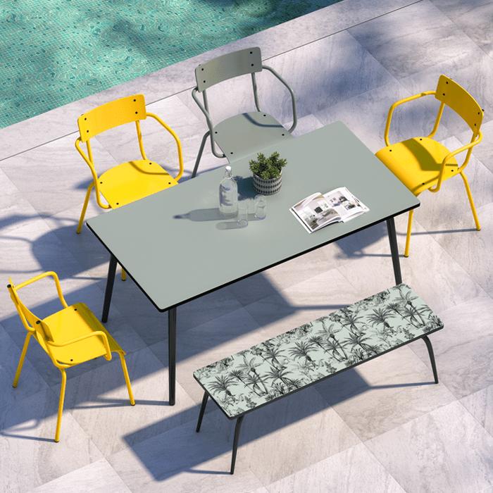 chaise de jardin sun en acier i designed by les gambettes