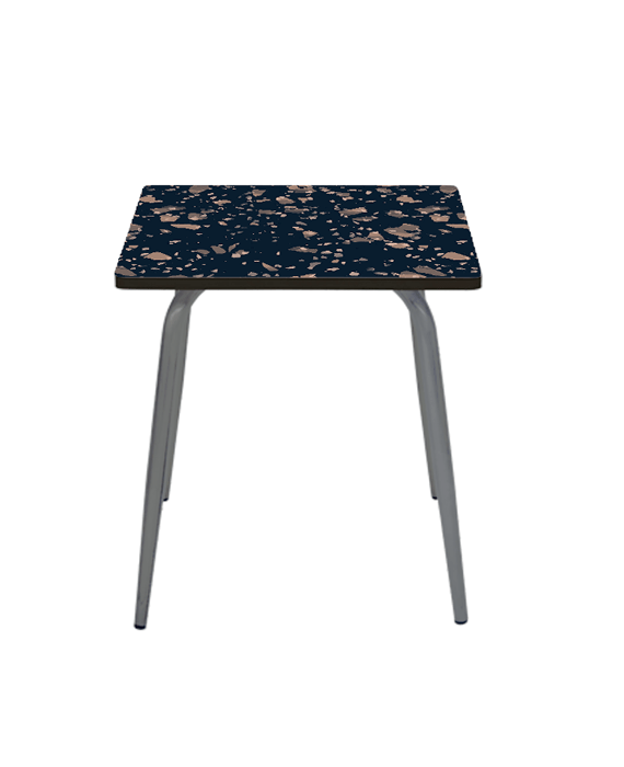 table a manger table design vera carree formica rose poudre