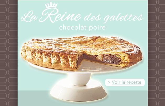 Galette chocolat - poire, crédit photo Guy Demarle