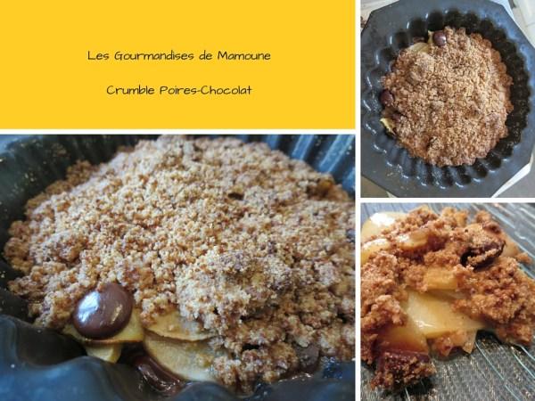 Les Gourmandises de MamouneCrumble Poires-Chocolat