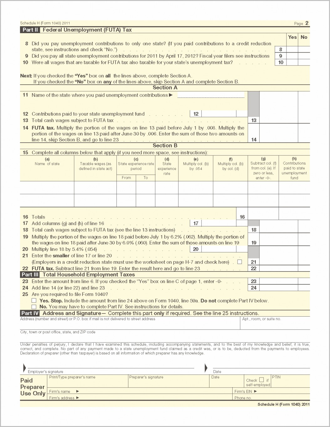 Ez Estimated Tax Form