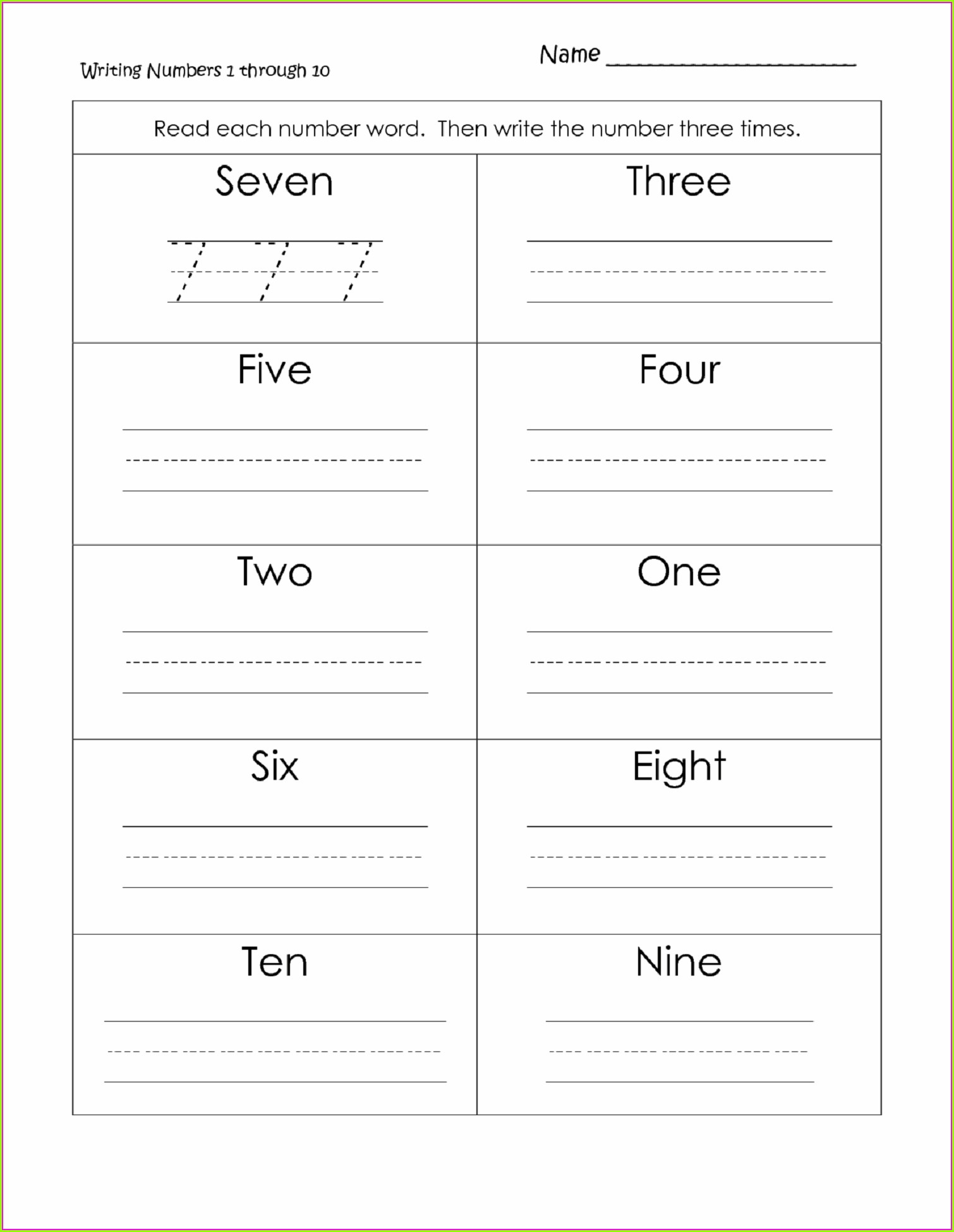 Reading And Writing Numbers Through Millions Worksheet