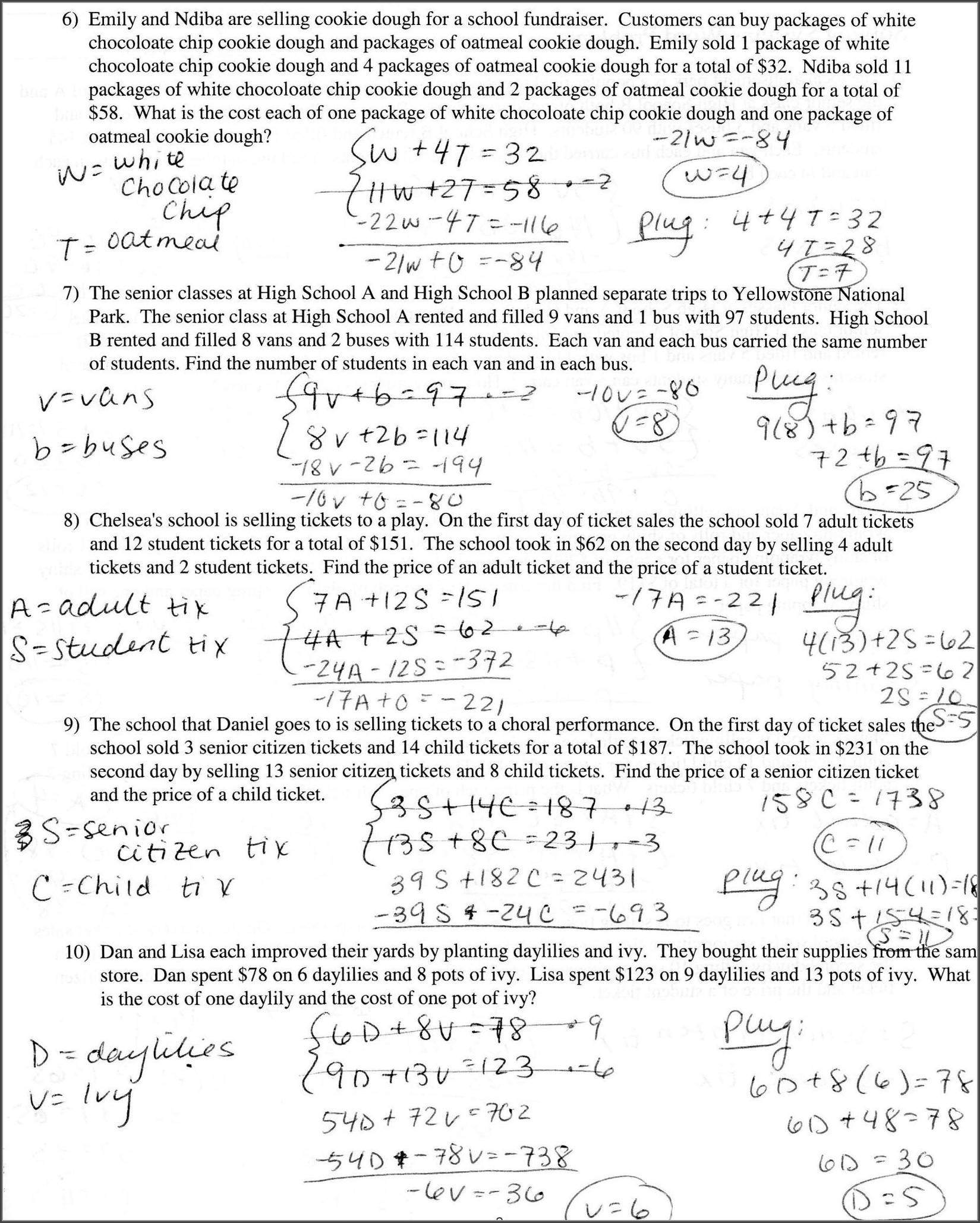 6th Grade Equations And Inequalities Worksheet