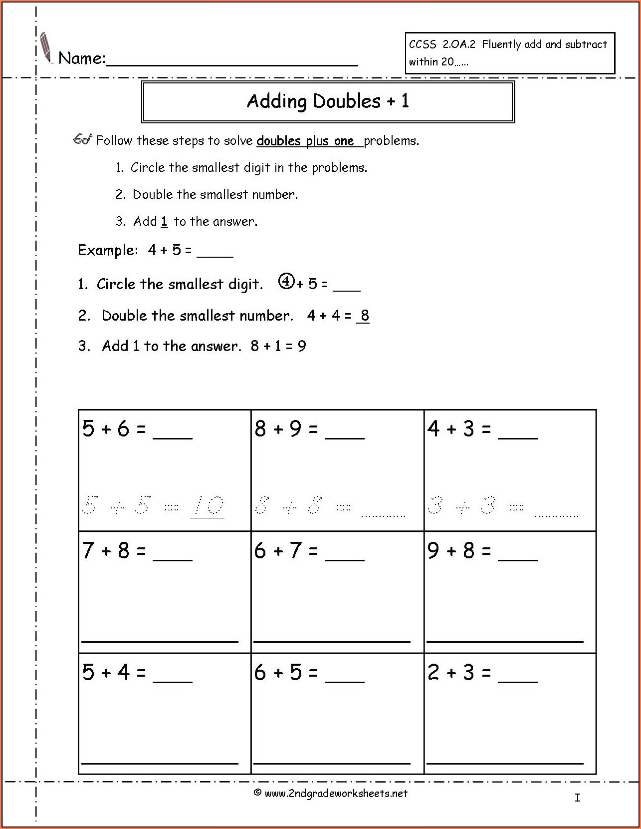 Math Facts Worksheets 2nd Grade