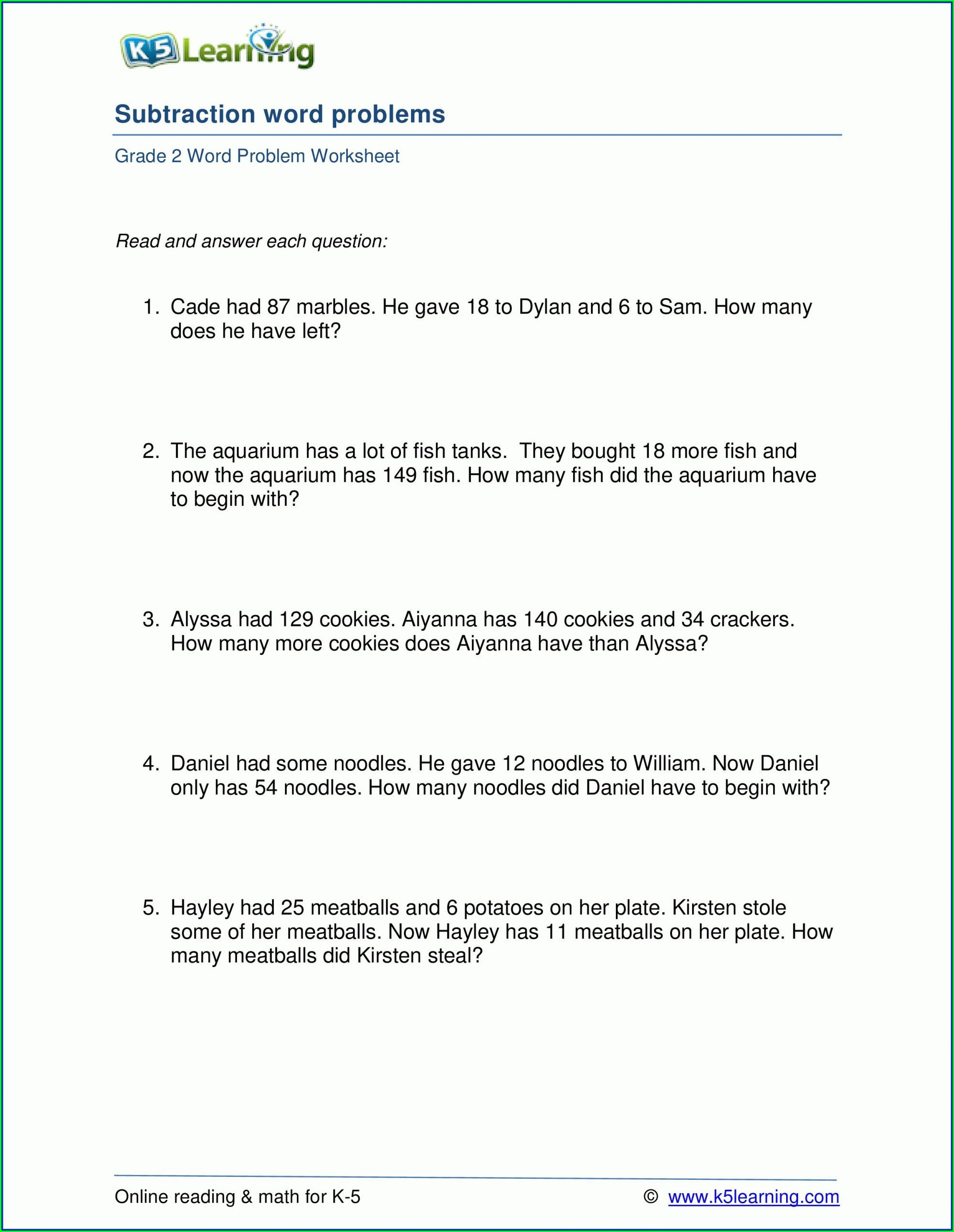 Grade 2 Mental Math Worksheets