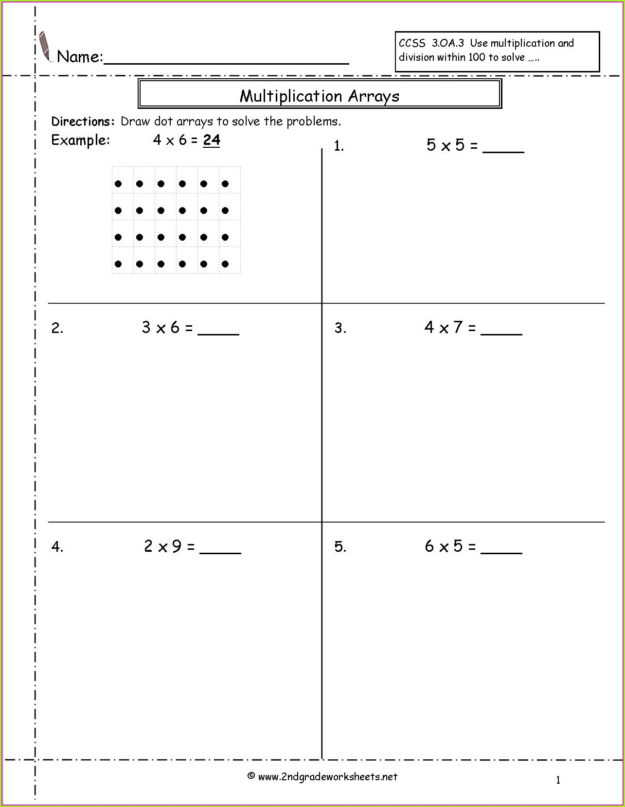 Multiplication Worksheet Year 7
