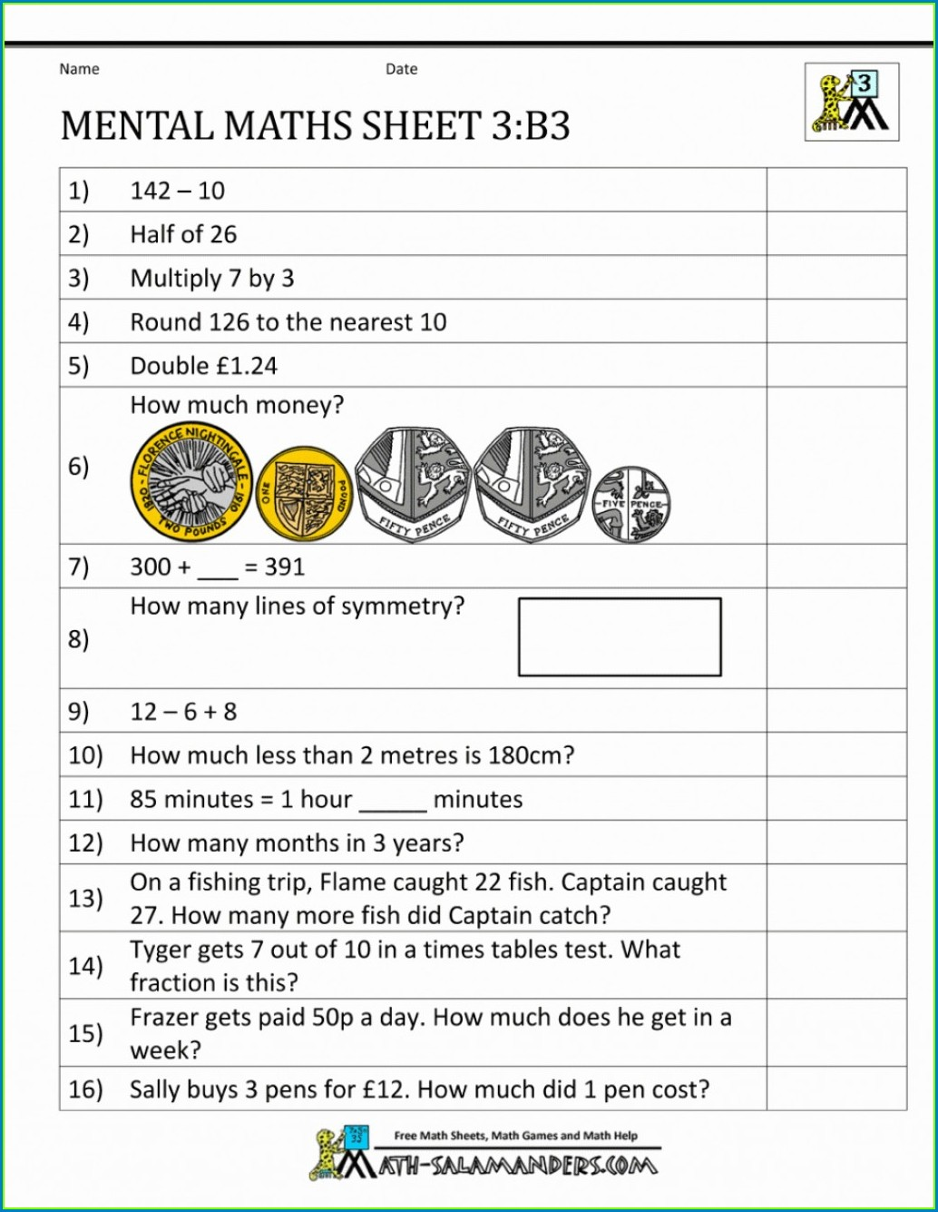 Multiplication Arrays Worksheet Year 2
