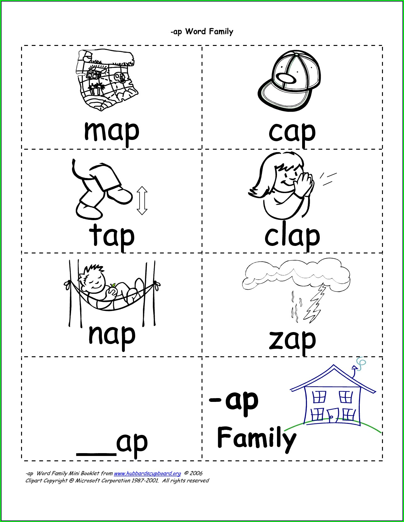Ot Word Family Worksheets For Kindergarten