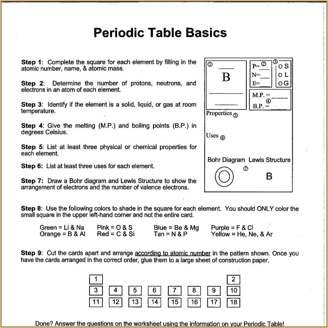 Pogil Periodic Table Trends Worksheet Answers