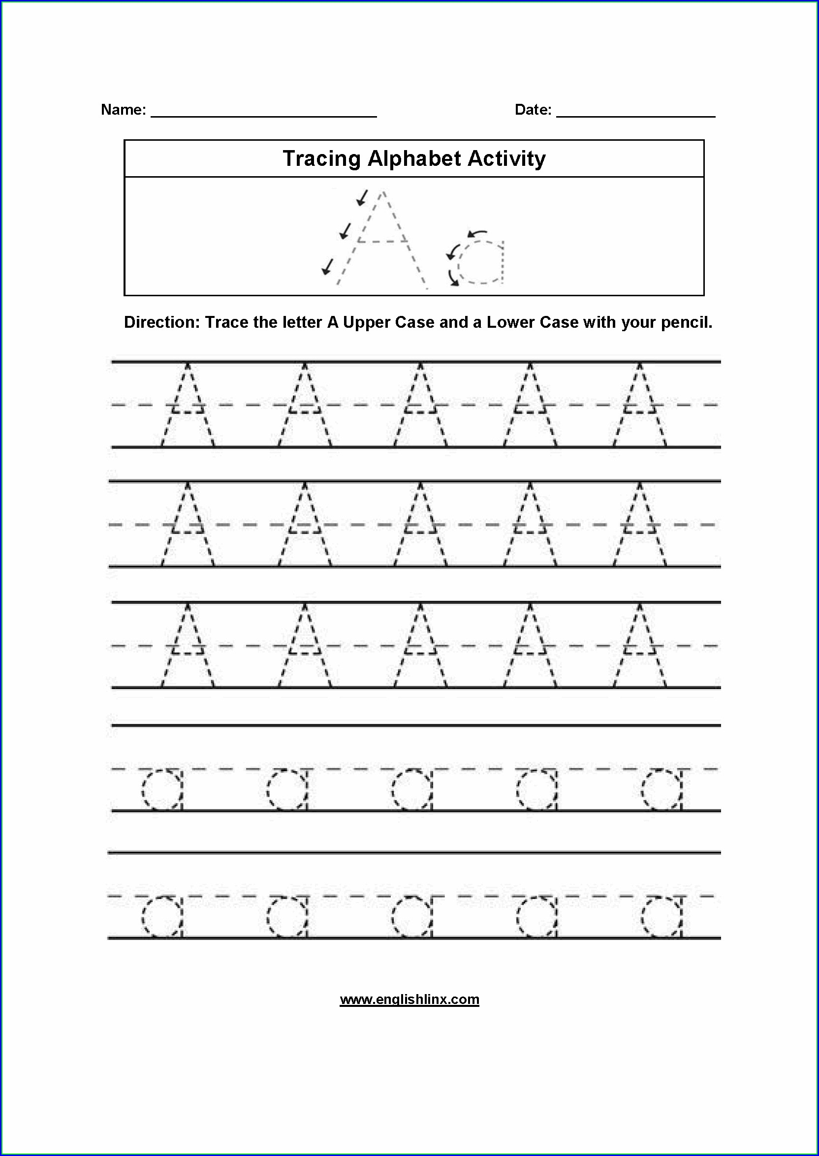 Preschool Handwriting Without Tears Letter Order