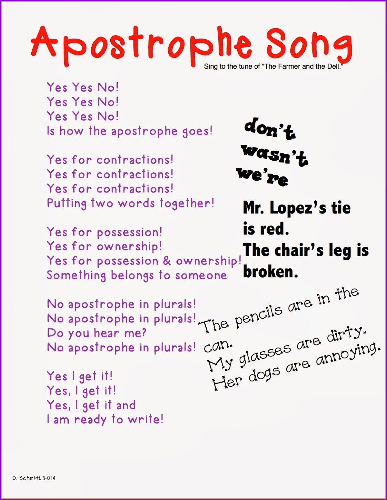 2nd Grade Worksheet On Contractions