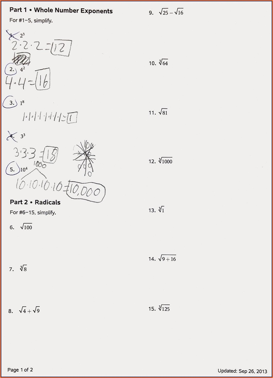 Applying Rational Number Operations Worksheet