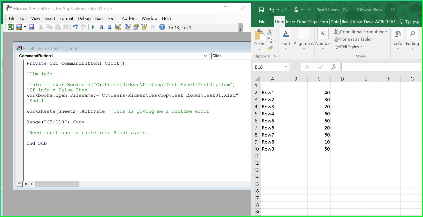 Vba Open Different Worksheet