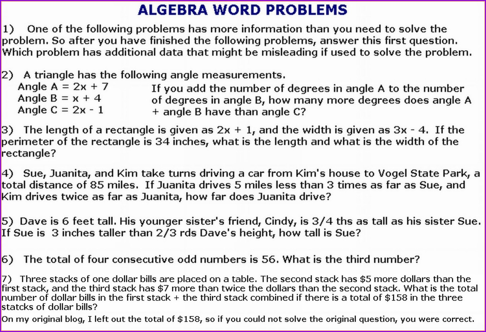 Simple And Compound Interest Word Problems Worksheet With