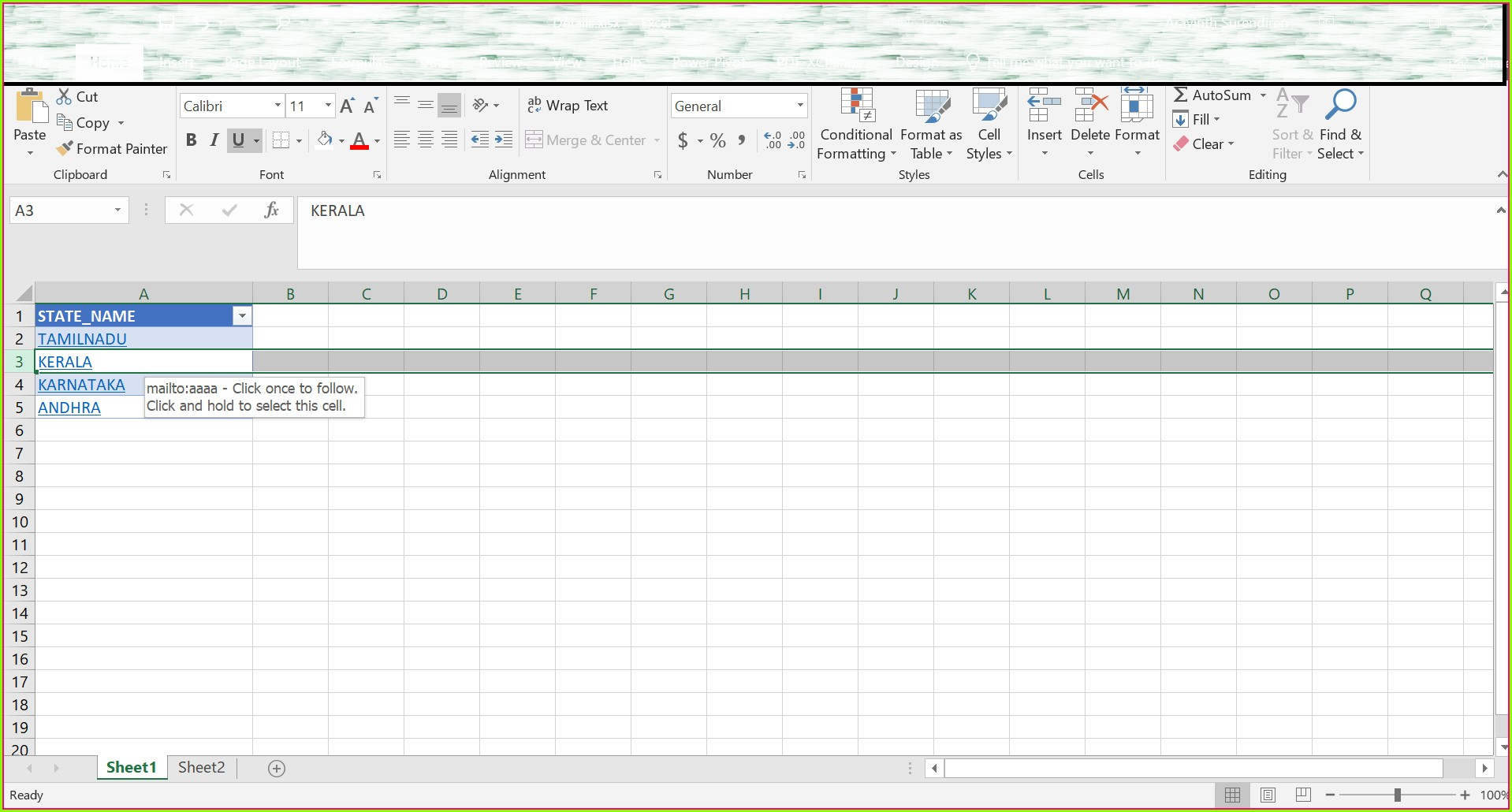 Excel Cell Worksheet Function