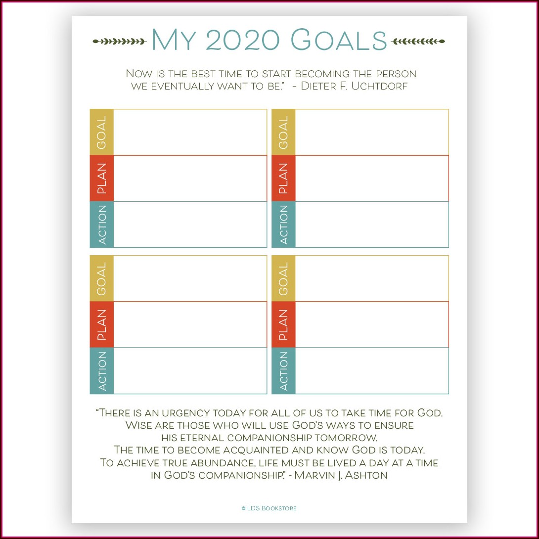Smart Goal Setting Worksheet Excel
