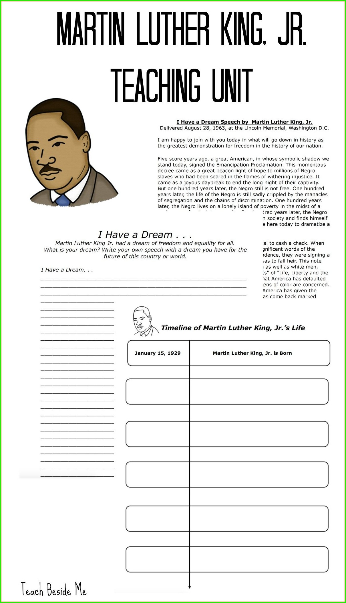 Martin Luther King Jr Day Lesson Plans 3rd Grade