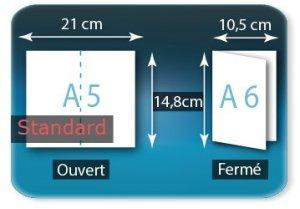 Dépliants / Plaquettes ouvert A5 210x148mm - fermé A6 105x148mm