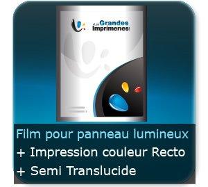 Affiches 210 gr Film Backlit - semi translucide - pour rétro éclairage - Impression Couleur Recto