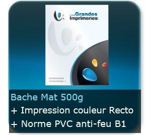 Affiches Bache 500 gr Mat PVC - Impression Couleur Recto - norme au feu B1