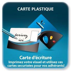 Carte de fidelité plastique pour écriture feutre