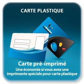 Carte de fidelité plastique Pré-imprimées (pour imprimante carte)