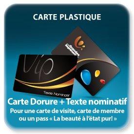 Carte de fidelité plastique VIP nominative