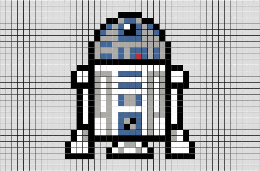 Dessin pixel star wars bb8 les dessins et coloriage, star wars robot bb8 drawing