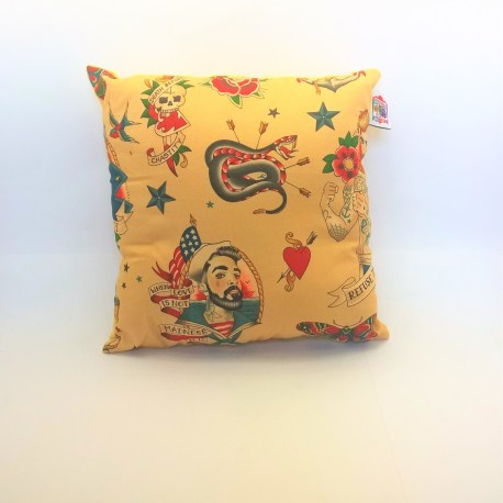 Coussin tattoo sailor beige