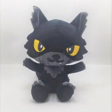 Peluche loup noir