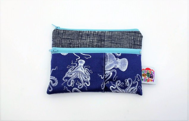 Trousse double zip octopus