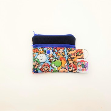 Porte monnaie double zip super mario