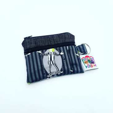 Porte monnaie double zip Beetlejuice