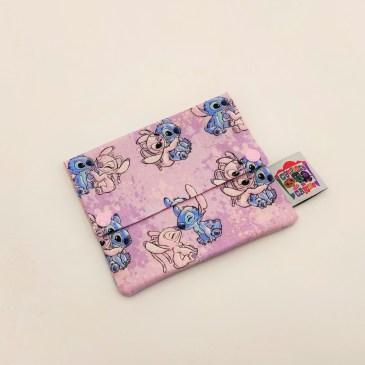 Pochette à savon Stitch fond rose