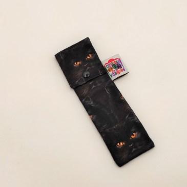Pochette brosse à dents chats angora noirs