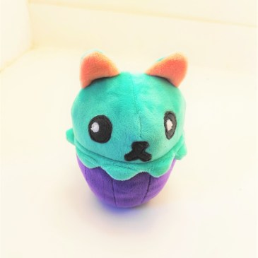 Peluche chat menthe cupcake