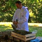 Xavier Dhaze au rucher des hauts de saulies