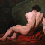 L'homme nu peint par Jair Herculano