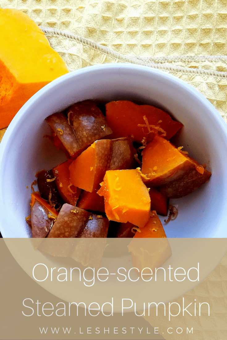 Orange-scented Steamed Pumpkin